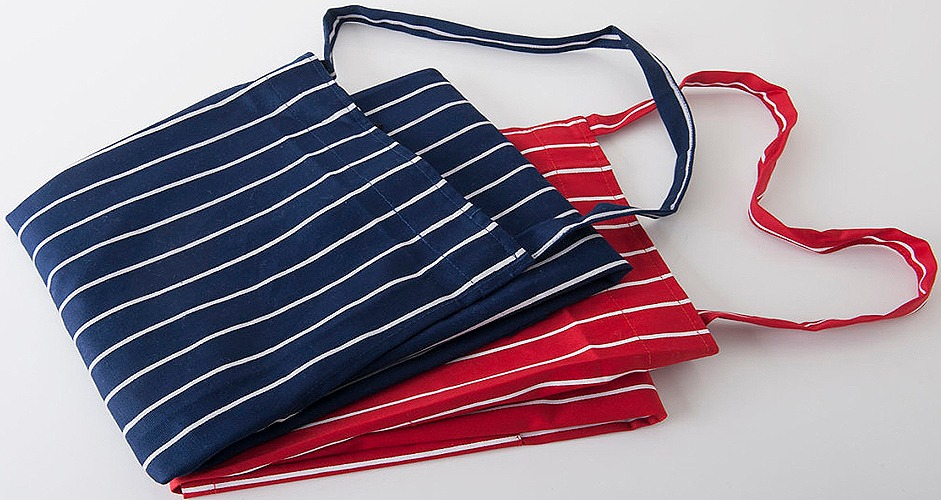 gallery/woven apron red & blue